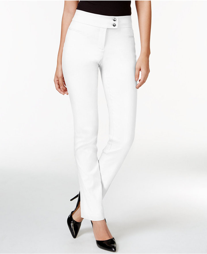 Style&Co. Style & Co Tummy-Control Slim-Leg Pants, Created for Macy's