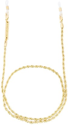 Frame Chain 18K Yellow Gold Roller rope glasses chain