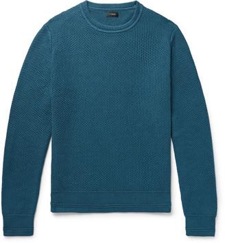 J.Crew Honeycomb-Knit Cotton Sweater