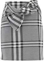 Dorothy Perkins CHECK BOW Mini skirt black/white