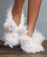 Lemon Legwear Women's Socks Almond - Almond Shaggy Bunny Slipper Socks - Women