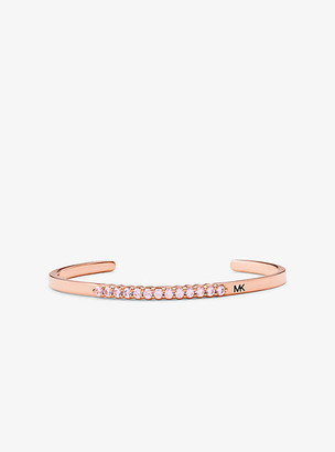 Michael Kors 14K Rose Gold-Plated Sterling Silver Pave Oversized Nesting Cuff