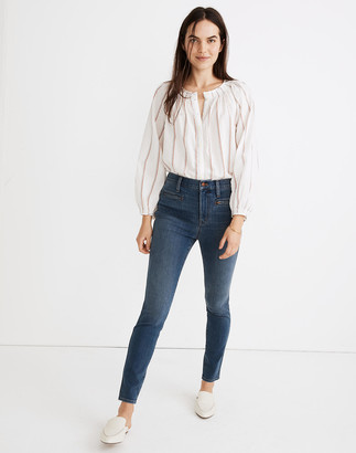 """Madewell Petite 10"""" High-Rise Roadtripper Jeggings in Ellerby Wash: Zip Pocket Edition"""