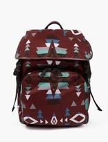 Valentino Maroon Navajo Nylon Backpack