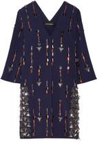 By Malene Birger Cesili Embellished Stretch-Jersey Mini Dress