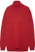 Marni Cape-back Wool And Cashmere-blend Turtleneck Sweater - Red