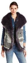 Jessica Simpson Women's Olivinefaux Fur Lined Vest