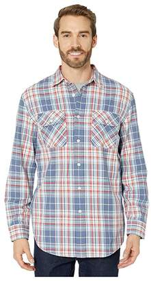 Pendleton Beach Shack Shirt (Blue/Red/Ivory Plaid) Men's Clothing