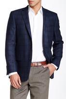 Hart Schaffner Marx Blue Plaid Two Button Notch Lapel Wool Sport Coat