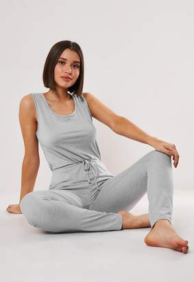 Missguided Grey Soft Touch Sleeveless Loungewear Jumpsuit