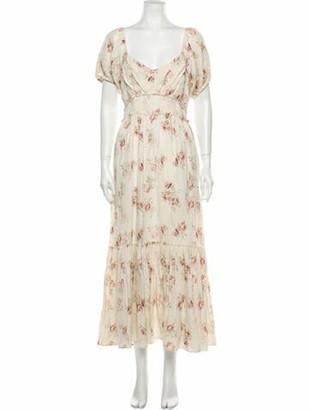 LoveShackFancy Linen Long Dress
