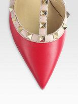 Valentino Bicolor Leather Rockstud Pumps