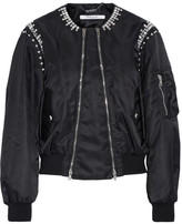 Givenchy Crystal-embellished Shell Bomber Jacket - Black