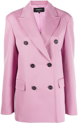 Rochas Double-Breasted Fitted Coat