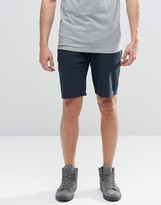 Asos Jersey Shorts In Navy