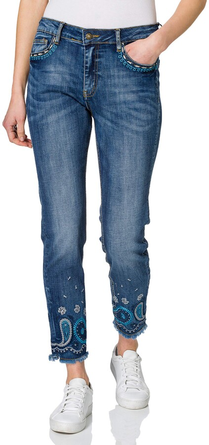 Thumbnail for your product : Desigual Women's Denim_Ankle Casual Pants