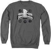 Power Rangers Mighty Morphin TV Series Power Coins And Logo Crewneck Sweatshirt