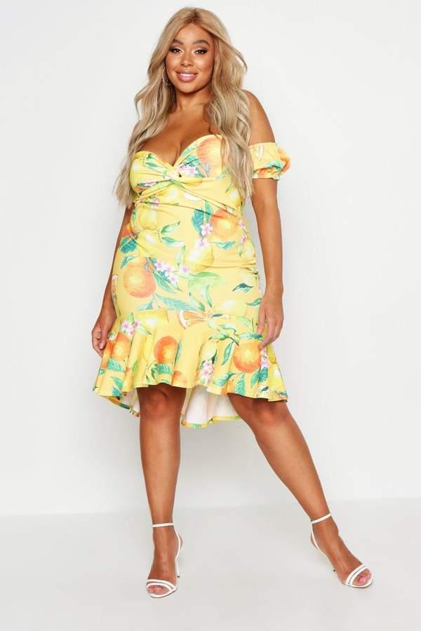 4beda801443d Lemon Skater Dress - ShopStyle UK
