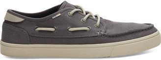 Toms Grey Canvas Dorado Men's Boat Shoes