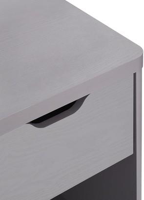 Aspen 1 Drawer Bedside Chest - Grey Oak Effect