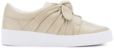 Senso Women's Annie Front Bow Leather Slip On Trainers Sand