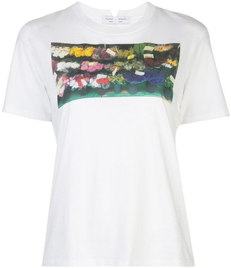 Proenza Schouler White Label Printed Short Sleeve T-Shirt