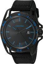 Calvin Klein Men's 'Earth' Swiss Quartz Stainless Steel and Leather Automatic Watch, Color: (Model: K5Y31YB1)