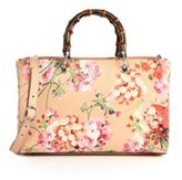 Gucci Bamboo Shopper Blooms Leather Tote
