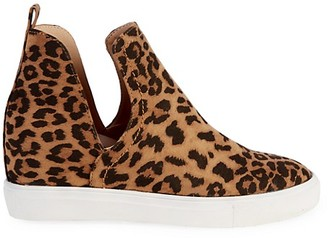 STEVEN NEW YORK Leopard Printed Slip-On Sneakers