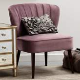 Pulaski Channeled Back Armless Accent Chair in Purple