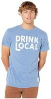 Original Retro Brand The Vintage Tri-Blend Drink Local Short Sleeve Tee (Streaky Royal) Men's Clothing