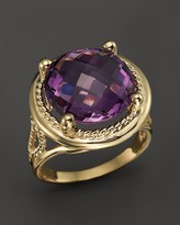 Bloomingdale's Amethyst Statement Ring in 14K Yellow Gold