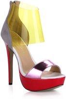 DolphinBanana DolphinGirl Women Red Platform Ankle Strap Sandals Stiletto Ladies Pumps SM00288