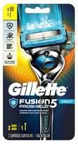 Gillette Fusion® ProShield Chill Men's Razor With FlexBall® Handle and 2 Razor Blade Refills - 2 ct