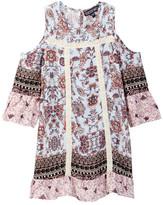 Trixxi Printed Cold Shoulder Dress (Big Girls)