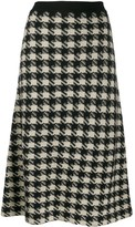 Gucci Houndstooth knitted midi skirt
