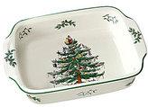 Spode Christmas Tree Handled Rectangle Baking Dish