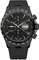 Edox Grand Ocean 01113-357N-NIN 45mm Automatic Ion Plated Stainless Steel Case Black Rubber Synthetic Sapphire Men's Watch