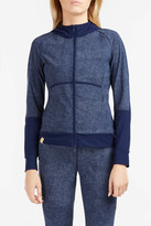 Monreal London Denim-Print Zip-Up Top