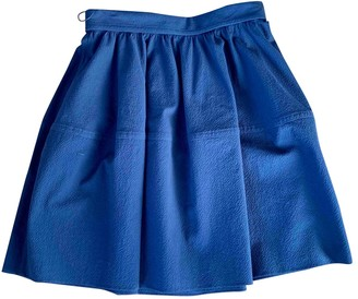 Carven Blue Viscose Skirts