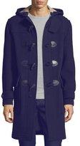 Burberry Brockhurst Long Duffle Coat, Navy