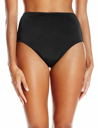 Maxine Of Hollywood Women's Solid Separate Bottom Full Pant Bikini Bottom