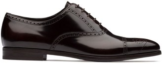 Prada brogue motif Oxford shoes