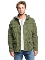 Old Navy Garment-Dyed Hooded Utility Jacket for Men