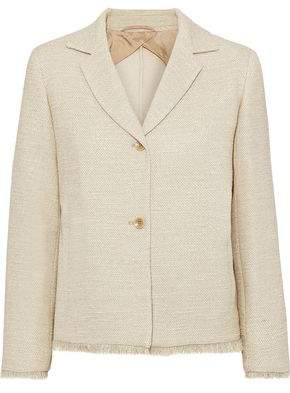 Max Mara Viadana Frayed Cotton-blend Tweed Blazer