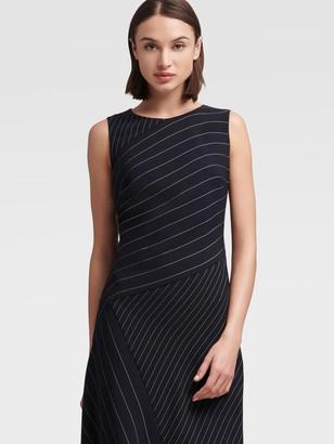 DKNY Sleeveless Asymmetrical Stripe Dress