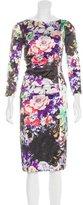 Etro Floral Print Silk Dress