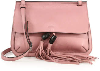 Gucci Bamboo Daily Flap Shoulder Bag Carmine Rose