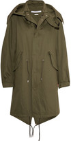 Givenchy Hooded Printed Cotton-twill Parka - Army green