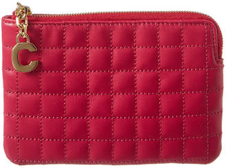 Celine C Charm Quilted Leather Coin Case
